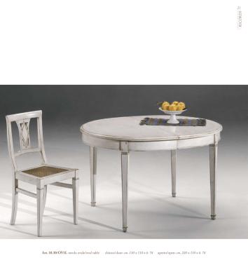 Tavolo ovale cm 130 x 110 x h. 78